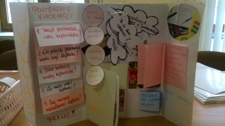 szkolenie z tworzenia lapbook w bibliotece